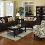 Coaster Westwood Hardwood Chenille Pillow Top Sectional