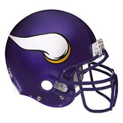 Fathead LLC - NFL Minnesota Vikings Football Helmet Logo Wall Accent Decal - FEATURES: