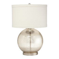 Kichler Lighting - Kichler Lighting 70870 Soleil Modern / Contemporary Table Lamp - This delicate 1 light Soleil™ table lamp features a distinctive Mercury Glass finish, a Round Hard Back Single Fold trim shade and an antique mercury glass diffuser. With an elegant profile, this design will elevate any space.