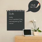 Simple Shapes - Chalkboard Memo Wall Decal - Write your notes on the wall! This memo decal incorporates a black chalkboard vinyl that you can write on with chalk or chalk ink pens. It is applied directly to the wall. (Chalk Ink pen not included.)
