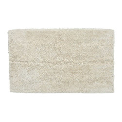 Cotton Twist Bath Rug, Natural - This plush bath rug will keep your toes warm when you first step out of the shower or bath.