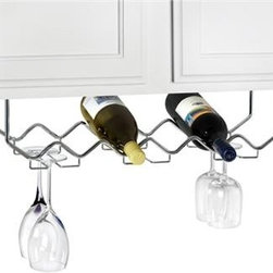 Spectrum Diversified Design - Under Cabinet Wine Rack With Stemware - We see a lot of wasted ...