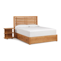 Copeland Furniture - Copeland Furniture Dominion Chatham Storage King Bed with Slat Headboard 1-CHA-2 - Clean honest designs and thousands of options give Dominion unparalleled flexibility. With five distinct headboard designs, finishes, leather and hardware options Dominion melds seamlessly with almost any decor, expressing Copeland's unique design ethos - high quality domestic solid wood furniture, mixing traditional woodworking and modern technology for a soft, highly livable contemporary look.