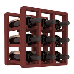 Wine Racks America® - 9 Bottle Counter Top/Pantry Wine Rack in Redwood, Cherry Stain - These counter top wine racks are ideal for any pantry or kitchen setting.  These wine racks are also great for maximizing odd-sized/unused storage space.  They are available in furniture grade Ponderosa Pine, or Premium Redwood along with optional 6 stains and satin finish.  With 1-10 columns available, these racks will accommodate most any space!!