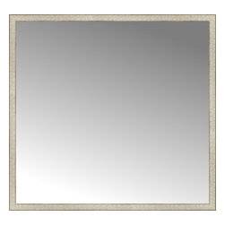 """Posters 2 Prints, LLC - 59"""" x 56"""" Libretto Antique Silver Custom Framed Mirror - 59"""" x 56"""" Custom Framed Mirror made by Posters 2 Prints. Standard glass with unrivaled selection of crafted mirror frames.  Protected with category II safety backing to keep glass fragments together should the mirror be accidentally broken.  Safe arrival guaranteed.  Made in the United States of America"""