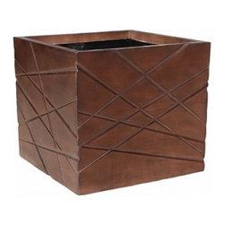 kasamoderndesign - Modern Wood Planter Pot to use Outdoor or Indoor, Large - Modern Wood Planter Pot to use Outdoor or Indoor Home Decoration Patio Garden Lawn F1011B
