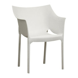 Wholesale Interiors - Winged Arm Chair in White - Set of 2 - Set of 2 Chairs. Comfortable, sturdy and inexpensive. Made from Vinyl. No assembly required. Seat: 17 in. H. Overall: 22 in. W x 19 in. L x 19.25 in. H (25 lbs.)More than just beautiful, this wholesale interiors chair is quite comfortable, sturdy and inexpensive. It's tough enough to withstand rough use in a fast-food restaurant, while elegant enough to flatter a sophisticated design studio or stylish home.
