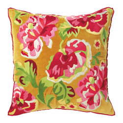 Company C Pillow Anastasia - When you're looking to finish off your girl's room with bright unique details, consider this square pillow by Company C. Embroidered with 100% cotton velvet, this is nice on the eyes and the skin.