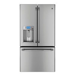 GE Cafe Series ENERGY STAR 23.1 Cu. Ft. Counter-Depth French-Door Refrigerator - Features: