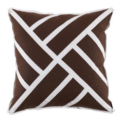 Chinese Chippendale Pillow - Java Linen - Clayton Gray Home -