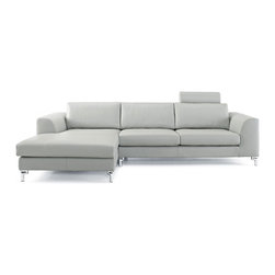 White Line Imports - Angela Gray Sectional with Left-Side Chaise - Features: