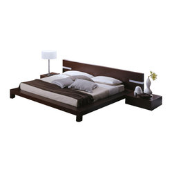 Win Platform Bed / with Headboard Lights-Queen