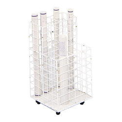 """Safco - Safco 4 Compartment Wire Roll File - Safco - Filing Cabinets - 3084 - This wire rolling file cart allows you to easily arrange and access your files and move them safely. Constructed of heavy-gauge steel rod with white plastic coating this file cart is especially sturdy. The file easily glides to the point of use on 2"""" all-surface casters. The dustguard on the bottom of the file keeps materials clean while protecting edges. Compartments hold any size document."""