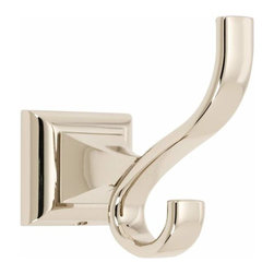 Alno Inc. - Alno Creations Manhattan Robe Hook Polished Nickel A7499-Pn - Alno Creations Manhattan Robe Hook Polished Nickel A7499-Pn