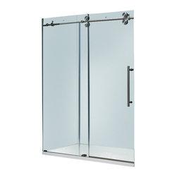 Vigo - Vigo 60-inch Frameless Tub door 3/8in.  Clear Glass Stainless Steel Hardware - Make your bathroom an oasis with a Vigo frameless tub enclosure.