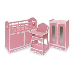 \Child's Folding Doll Furniture Set - I am a total sucker for doll furniture, and this set is foldable — meaning that you can tote it from place to place or conveniently store it in a small playspace.