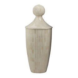 Lazy Susan - Lazy Susan 648002 Classical Bone Urn with Lid - Small - Made from natural boneHandcrafted