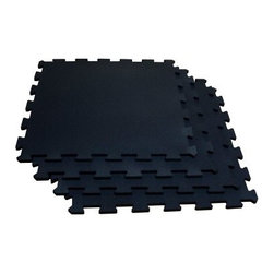 Body-Solid Tools RF4PMB Black Puzzle Mat - Use the Body-Solid Tools RF4PMB Black Puzzle Mat to create a safe and comfortable surface to get your sweat on.Additional informationMade of recycled rubber and urethane binderProtects floor from any damage from free weightsOffers outstanding support for feet and legsEasy to assembleAbout Body SolidBody Solid has been making high-quality strength training and exercise equipment for over 20 years. Designed for today's workouts, Body Solid machines feature innovative technology and distinctive styling that suits your home. Body Solid equipment meets the challenges of today's busy lifestyle while providing you with the utmost in advanced home exercise. From space-saving designs that suit any room, to full-sized gym systems with every available station, Body Solid gives you the features you want at a price you can afford. All components of all machines are covered by a lifetime manufacturer's warranty; something you won't find from any other manufacturer in the industry.