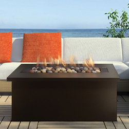 Key West Fire Coffee Table with Bronze Top -