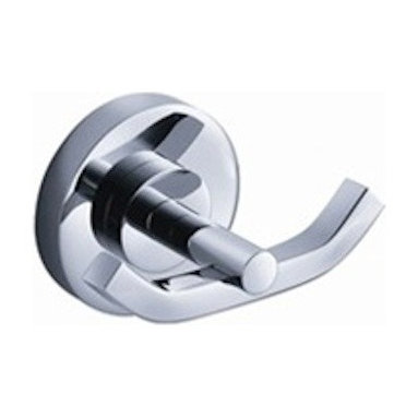 Fresca - Fresca Alzato Double Bathroom Robe Hook - All our bathroom accessories are imported and are selected for their modern, cutting edge designs. All accessories are made with brass with a quadruple chrome finish. All our accessories have been chosen to complement our other line of products including our vanities, steam showers, whirlpools, and toilets.
