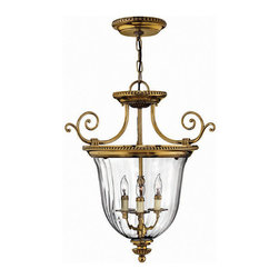 Hinkley Lighting - Hinkley Lighting 3613BB Cambridge Burnished Brass Pendant - Hinkley Lighting 3613BB Cambridge Burnished Brass Pendant