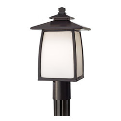 Murray Feiss - Murray Feiss Wright House Transitional Outdoor Post Lantern Light X-BRO8058LO - Murray Feiss Wright House Transitional Outdoor Post Lantern Light X-BRO8058LO