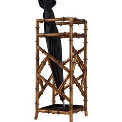 Dessau Home - Dessau Home Antique Gold Iron Bamboo Umbrella Stand -