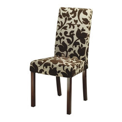 Safavieh - Safavieh Parsons Dining Chair Set of 2 X-2TES-A7028DUH - Finish: Dark Brown.