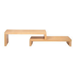 Temahome - Temahome Cliff Tv Bench, Oak, 93-49 - Versatile, it Cliff tv table adapts to every corner of the house.TemaHome produces a collection of contemporary furniture and decorative accents, that combine modern lines and award winning designs by some of the most respected Portuguese designers, such as Fernando Brizio and Filipe Alarcao. This attention to the design of each product, results in timeless pieces that can fit into an endless variety of contexts.