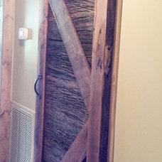 Rustic Interior Doors by Stone-Crete Artistry