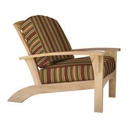 Douglas Nance - Douglas Nance Augusta Deep Seating Club Chair, Westin - Douglas Nance Augusta is a leap away from the ordinary. This collection combines the Americana feel of an Adirondack chair with the grand comfort and style of fine teak deep seating furniture - and it reclines! Includes made-to-order Sunbrella cushion available in nine colors (Navy, Chili, Dolce, Fern, Marina, Natural, Parrot, Spa, Westin).