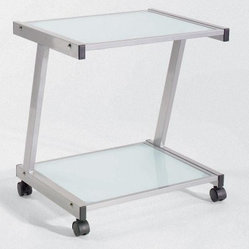 Euro Style Printer Cart - Euro Style Printer Cart is on locking caster wheels for easy mobility ...