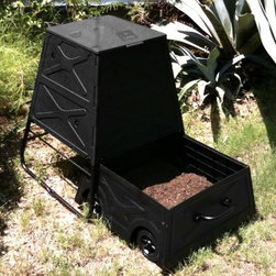 STC 50 Gallon CompoMix Compost Bin - Additional Features Easy-open top is rodent proof Compost cart allows you to bring the bin with you No more hauling out a wheelbarrow to move your compost Extremely durable construction for all seasons Easy to assemble with household tools Takes about 1-2 hours to assemble Includes a limited 1-year warranty The STC 50 Gallon CompoMix Compost Bin makes making your own compost easy. Constructed from durable recycled and recyclable material this compost bin is designed to withstand every season. Simple to use just throw in your garden kitchen and yard waste and mix your own compost. With its pyramid shaped tubes and Empire Black color helping to promote the four key elements of comporting you'll have top-grade nutrient-rich compost in as little as 4-6 weeks. Also no more hauling out your wheelbarrow to get your compost to your garden. The 50 Gallon CompoMix Compost Bin has a long metal handle that allows you to roll your compost bin wherever you need it. The top is easy to open and rodent proof. The best part is that you'll be helping to reduce landfill waste and saving money all at the same time.