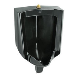 """Kohler - Kohler K-4904-ET-7 Black Black Bardon 1/8Th Gpf High Efficiency Urinal - Kohler 1/8Th Gpf High Efficiency Urinal from the Bardon SeriesThis urinal provides the ultimate in conservation for water consuming urinals and is 87% more efficient than standard 1.0 gpf models. This urinal is ideal for water conservation installations that require water consuming urinals. This urinal qualifies as 18""""L x 14-1/8""""W x 26-7/8""""H Constructed of vitreous china3/4"""" top spudUltra Low Consumption (0.125 gpf/0.5 lpf)14"""" extended rim allows for ADA installationOptimized and intended for use with the K-10949 1/8th gpf Touchless(TM) urinal flushometer with Tripoint(TM) technologySame rough-in dimensions as K-4960-ET Bardon urinal"""
