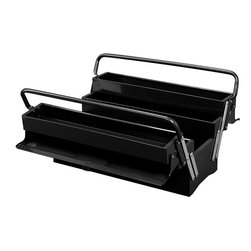 Excel - Excel 19-inch Steel Cantilever Tool Box - Excel steel cantilever tool box with five trays,full length steel handle,and an industrial powder coat paint finish.