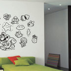 StickONmania - Videogame Characters Sticker - Kids collection stickers for a child's room. Decorate your home with original vinyl decals made to order in our shop located in the USA. We only use the best equipment and materials to guarantee the everlasting quality of each vinyl sticker. Our original wall art design stickers are easy to apply on most flat surfaces, including slightly textured walls, windows, mirrors, or any smooth surface. Some wall decals may come in multiple pieces due to the size of the design, different sizes of most of our vinyl stickers are available, please message us for a quote. Interior wall decor stickers come with a MATTE finish that is easier to remove from painted surfaces but Exterior stickers for cars,  bathrooms and refrigerators come with a stickier GLOSSY finish that can also be used for exterior purposes. We DO NOT recommend using glossy finish stickers on walls. All of our Vinyl wall decals are removable but not re-positionable, simply peel and stick, no glue or chemicals needed. Our decals always come with instructions and if you order from Houzz we will always add a small thank you gift.