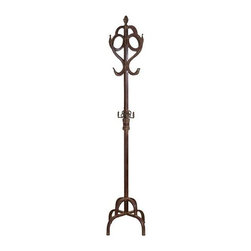"BZBZ81390 - Antique Style Metal Coat Rack in Dark Finish 70""High - Antique style metal coat rack in dark finish 70""high. The coat stand rack will be an asset for home or office."