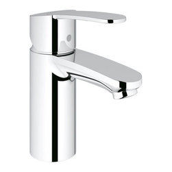 "Grohe - Grohe Eurostyle Cosmopolitan Single Hole Bathroom Faucet - Product Features:  Faucet body constructed of solid brass Covered under Grohe's limited lifetime warranty Grohe faucets are exclusively engineered in Germany Finishes will resist corrosion and tarnishing through everyday use - finish covered under lifetime warranty Stainless steel braided flexible supplies Single handle operation ADA compliant - complies with the standards set froth by the Americans with Disabilities Act for bathroom faucets WaterSense Certified product - using at least 30% less water than standard 2.2 GPM faucets, while still meeting strict performance guidelines Designed for use with standard U.S. plumbing connections  Product Technologies / Benefits:  Starlight Finish: Continuously improving over the last 70 years Grohe's unique plating process has been refined to produce and immaculate shiny surface that is recognized as one of the best surface finishes the world over. Grohe plates sub layers of copper and/or nickel to ensure that a completely non-porous, immaculate surface awaits the chrome layer. This deep, even layered chrome surface creates a luminous and mirror like sheen. SilkMove Cartridge: The rich and smooth handling of our single lever faucets conveys pure quality. As you change the temperature from hot to cold, one ceramic disc glides effortlessly across the other with absolute precision. These cartridges are manufactured in a high-tech process and feature discs made from a space-proven ceramic alloy. The SilkMove cartridge is yet another example of design and technology fusing to bring you an enhanced water experience. Grohe WaterCare: With the constant challenge of providing faucets that perform to the highest standards while leaving the smallest environmental foot-print possible, Grohe has created a series of ""WaterCare"" faucets. These faucets use up to 30% less water than the industry standard 2.2 GPM models while surpassing strict guidelines when it comes to performance. You can help reduce your water bill and feel good about your roll in conservation with these environmentally responsible faucets from Grohe.  Product Specifications:  Overall Height: 6-3/16"" (measured from counter top to the highest part of the faucet) Spout Height: 3-5/16"" (measured from the counter top to the spout outlet) Spout Reach: 4"" (measured from the center of the faucet base to the center of the spout outlet) Installation Type: Single Hole Number of Holes Required for Installation: 1 Flow Rate: 1.5 GPM (gallons-per-minute) Maximum Deck Thickness: 1-3/16"" 1 handle included with faucet  Variations:  23042: This Model 20209: Widespread version of this model  About Grohe: At Grohe, design goes deeper than just aesthetic trappings. It is a quality feature and is targeted toward the perfect synthesis of form and function. The result is joyous experience you have every time you use one of their products. Grohe subscribes to a straight forward and consumer-centric design philosophy; grounded in the belief that good design must transcend form and function to create an emotional bond with its users. With a reputation built on performance and longevity, Grohe products are sure to surprise and delight users with every interaction for years of unsurpassed performance. With Grohe's specialist knowledge it is second to none as they continue to push boundaries, challenge pre-conceptions and create new and exciting ways for their customers to enjoy water."