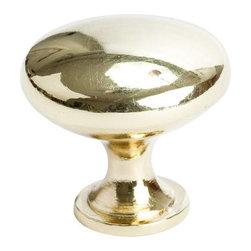 Berenson Decorative Hardware - Berenson Reprise Knob 1  3/16 in. Dia. Polished Brass -