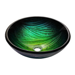 Kraus - Kraus Nei Glass Vessel Sink - *Inspired by the lush green palette of a rolling hillside, the Nei sink looks striking in a monochromatic setting or a clean, modern space