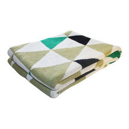 Sprouting Spring Throw Blanket - Add a graphic punch to your space with this throw blanket. Made in the USA from 80% recycled cotton and 20% acrylic, this blanket will add a warm feel and cozy energy to any space. Throw one over the back of a couch, lounge chair, or bed for a warm, snuggly time with family and friends.