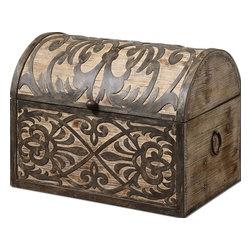 Uttermost - Uttermost 19709 Abelardo Rustic Wooden Box - Uttermost 19709 Abelardo Rustic Wooden Box