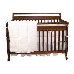 Trend Lab White Pique Crib Bedding Set
