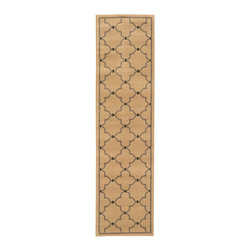 Oriental Weavers - Ivory & Gray Lattice Runner - Sophisticated hues and elegant designs blend with quality craftsmanship for a rug that's as stylish as it is durable. Place this piece on any floor to add instant warmth to the room.   0.39'' thick 100% polypropylene Professionally clean Made in the USA