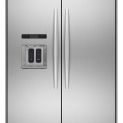 KitchenAid Side-by-Side Built-In Refrigerator - Integrated and flush electronic through-the-door ice and water dispenser provides a flush, aesthetically pleasing look