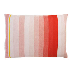 T.E. 037 CUSHION LIGHT RED By Thomas Eyck - The T.E. 037 Cushion in light red is super soft, and highly decorative for your living room or bed rooms. It is made with Marino wool and cotton.