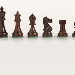 Elegant Rosewood French Staunton Chess Pieces - Enhance your chess collection with the Elegant Rosewood French Staunton Chess Pieces. These pieces are crafted with in traditional detailed French Staunton style featuring hand-carved intricate details. Each is made from genuine maple or rosewood for true durability and superior quality. They are heavily weighted for hours of uninterrupted play. Each piece features a green felt bottom providing scratch-free play on your board or table top. About Cambor GamesNew Jersey-based Cambor Games has spent the last 40 years developing product lines to address a variety of classic gaming needs. The company offers chess sets backgammon boards poker equipment dominoes mahjong tiles and more. From traditional designs to novelty themed items value-priced beginner sets to high-end collectors' dreams Cambor Games has the game equipment you need to have years of fun with close friends or bitter rivals.