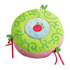 HABA Caro Lini Cushion - Pink gingham and shades of lush green are a must in every little princess' castle.