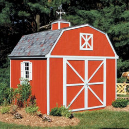 Handy Home - Handy Home Berkley Storage Shed - 10 x 12 ft. - 18512-0 - Shop for Sheds and Storage from Hayneedle.com! If you find that the Handy Home Berkley Storage Shed - 10 x 12 ft. is so nice that you'd prefer to live there and use your home to store your lawnmower we really couldn't blame you but you have to break the news to your family. The solid wood frame of this spacious structure features 6-foot high walls with a 10-foot central peak and is available with or without a floor. The wide double-door with a 64W x 72H-inch opening is pre-hung with continuous hinges and can be located on any of the four exterior faces. The outside of the building is pre-primed and ready for painting and all necessary hardware and detailed instructions are included.About Handy HomeSince 1978 Handy Home has been making it easy and affordable for their customers to add storage sheds gazebos and playhouses to their homes. As North America's largest producer of wooden storage and recreational building kits Handy Home makes durable structures that require no sawing or drilling and can be delivered when and where their customers need them.