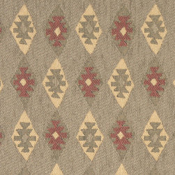 Green, Gold and Burgundy, Diamond Southwestern Upholstery Fabric By The Yard - This southwest chenille upholstery fabric is great for all indoor upholstery applications. This material is uniquely soft and durable. Any piece of furniture will look great upholstered in this material!